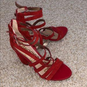Sam Edelman Red strappy heels